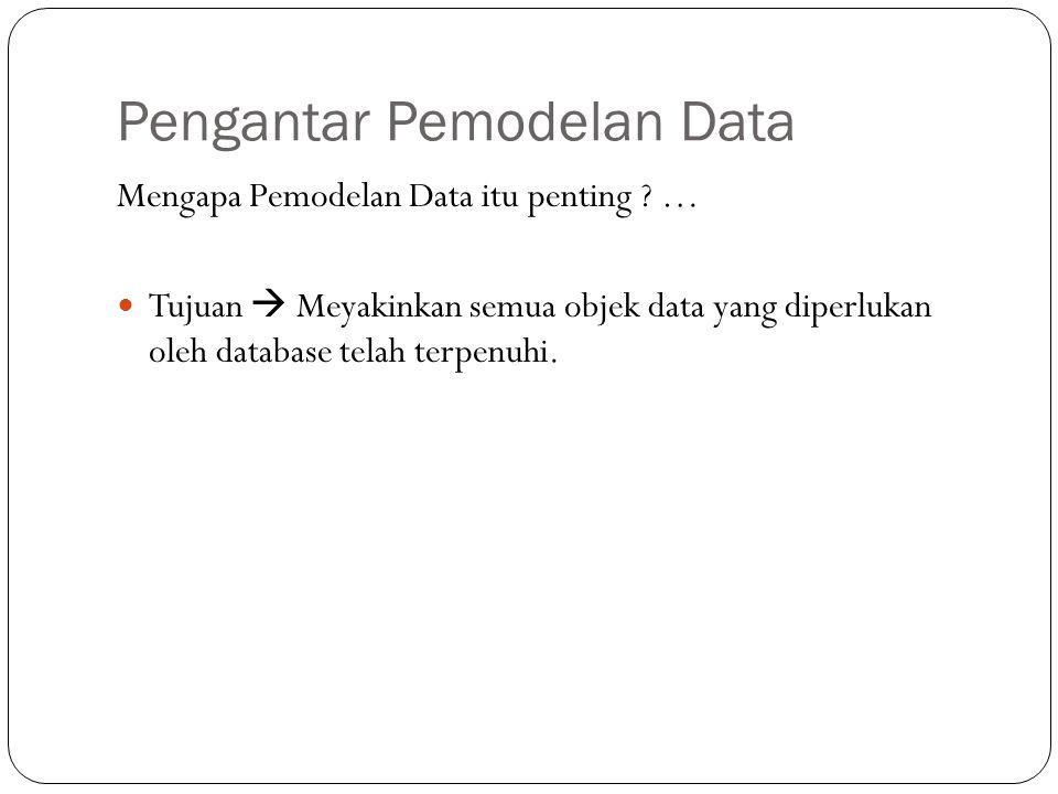 Pengantar Pemodelan Data