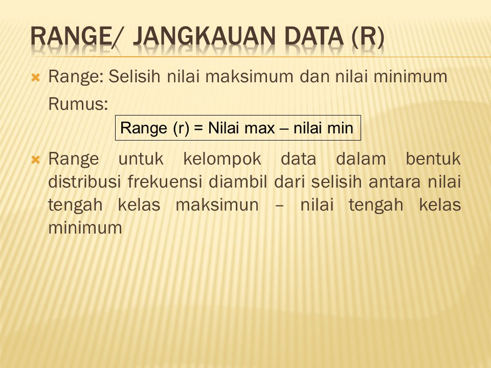RANGE/ JANGKAUAN DATA (r)