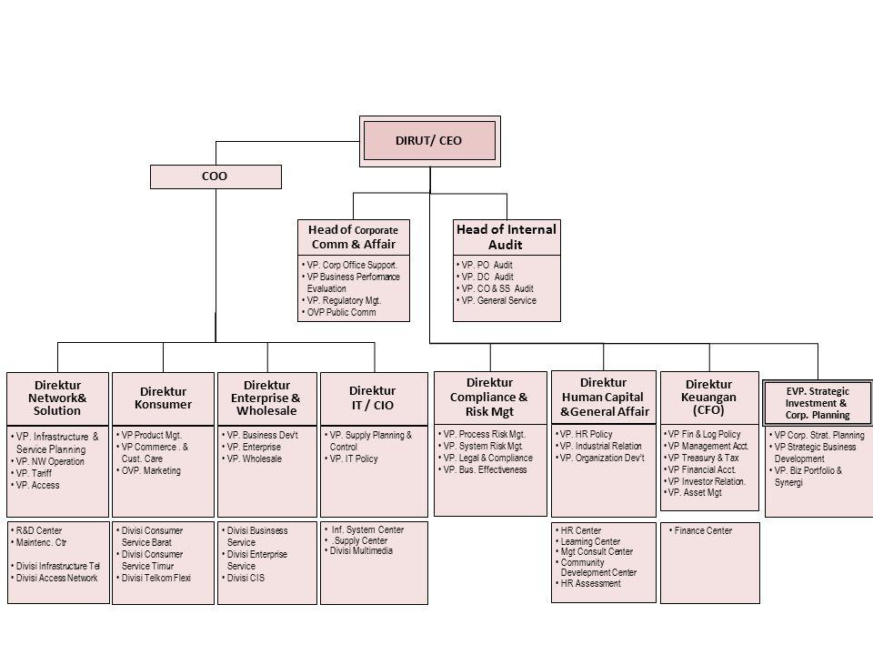 Struktur Organisasi PT. TELKOM