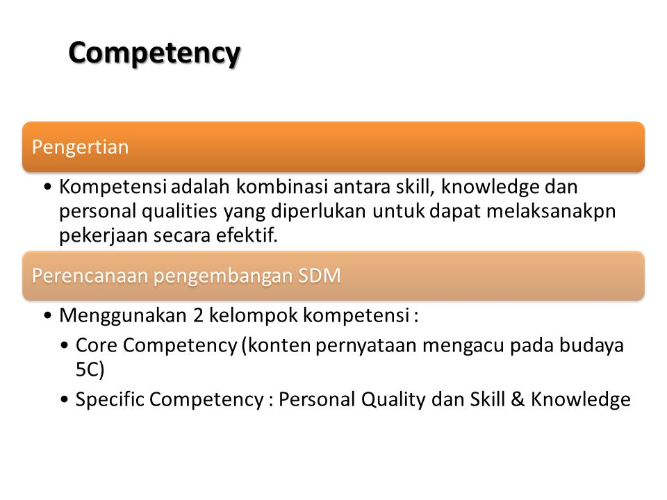 Competency Pengertian