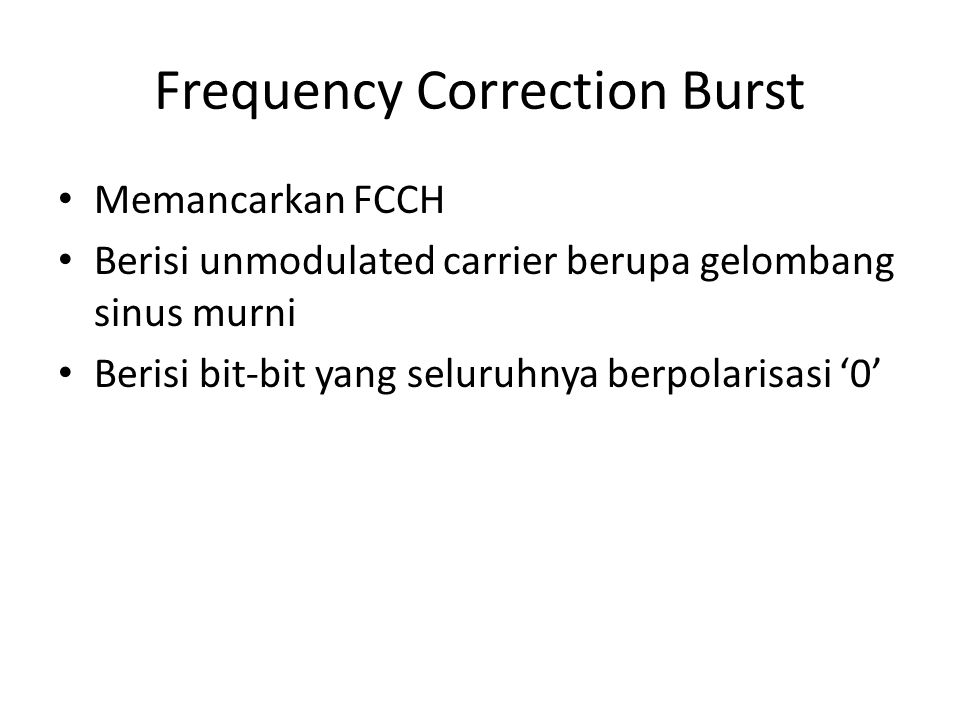 Frequency Correction Burst