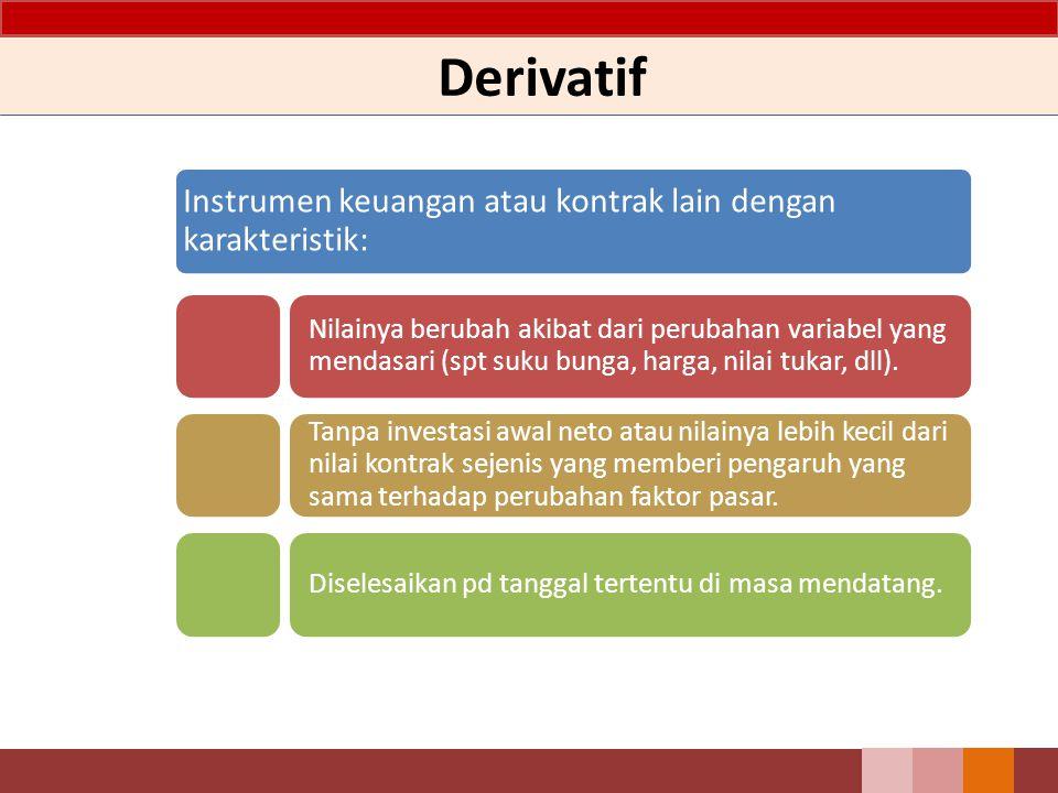 Derivatif Instrumen keuangan atau kontrak lain dengan karakteristik: