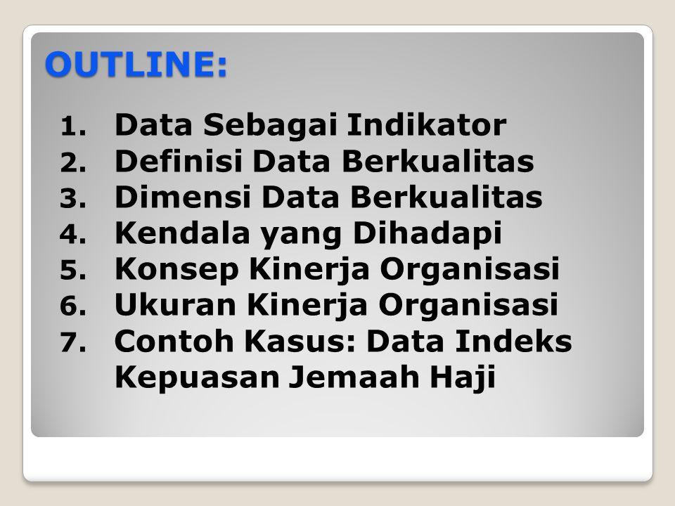 OUTLINE: Data Sebagai Indikator Definisi Data Berkualitas