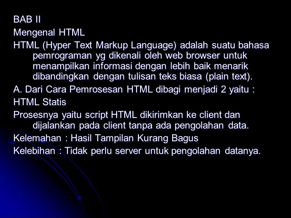 BAB II Mengenal HTML.