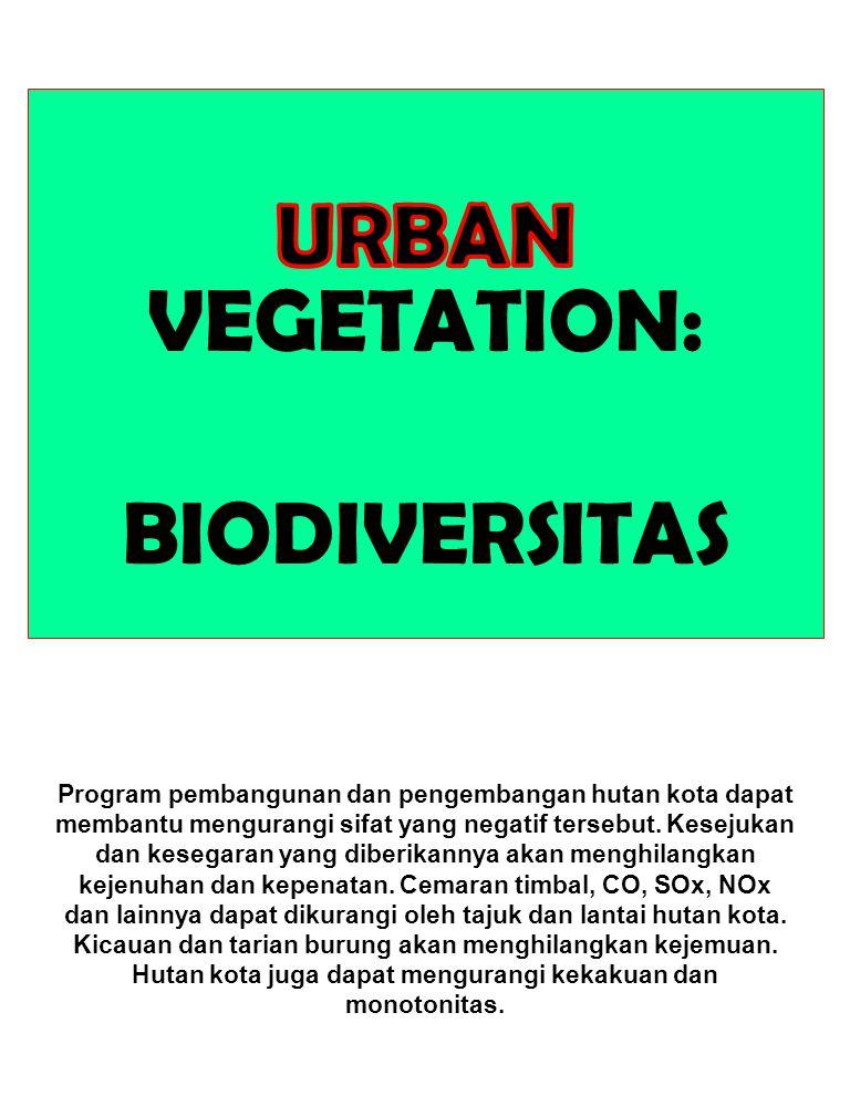 URBAN VEGETATION: BIODIVERSITAS
