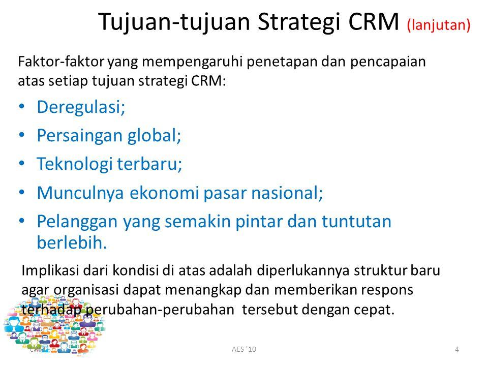 Tujuan-tujuan Strategi CRM (lanjutan)