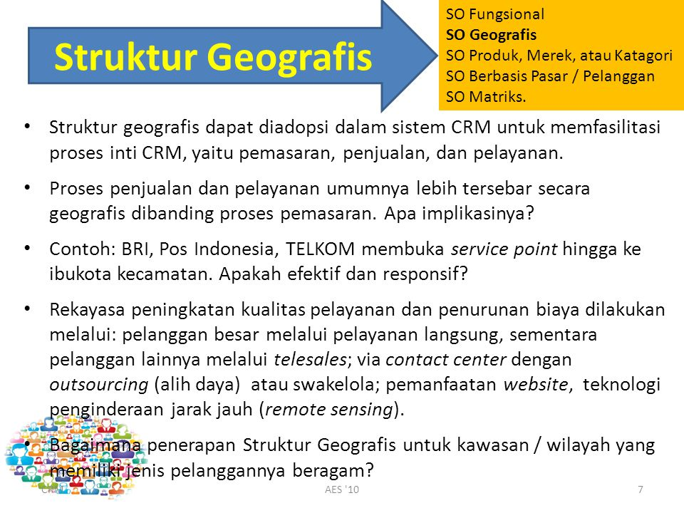 SO Fungsional SO Geografis. SO Produk, Merek, atau Katagori. SO Berbasis Pasar / Pelanggan. SO Matriks.
