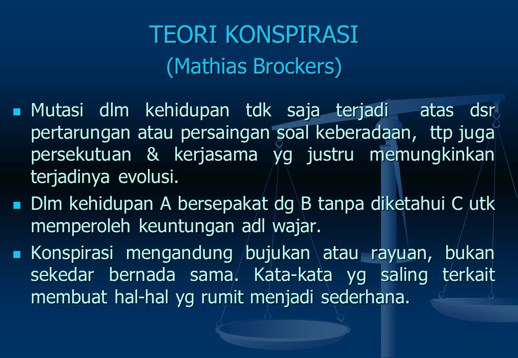 TEORI KONSPIRASI (Mathias Brockers)