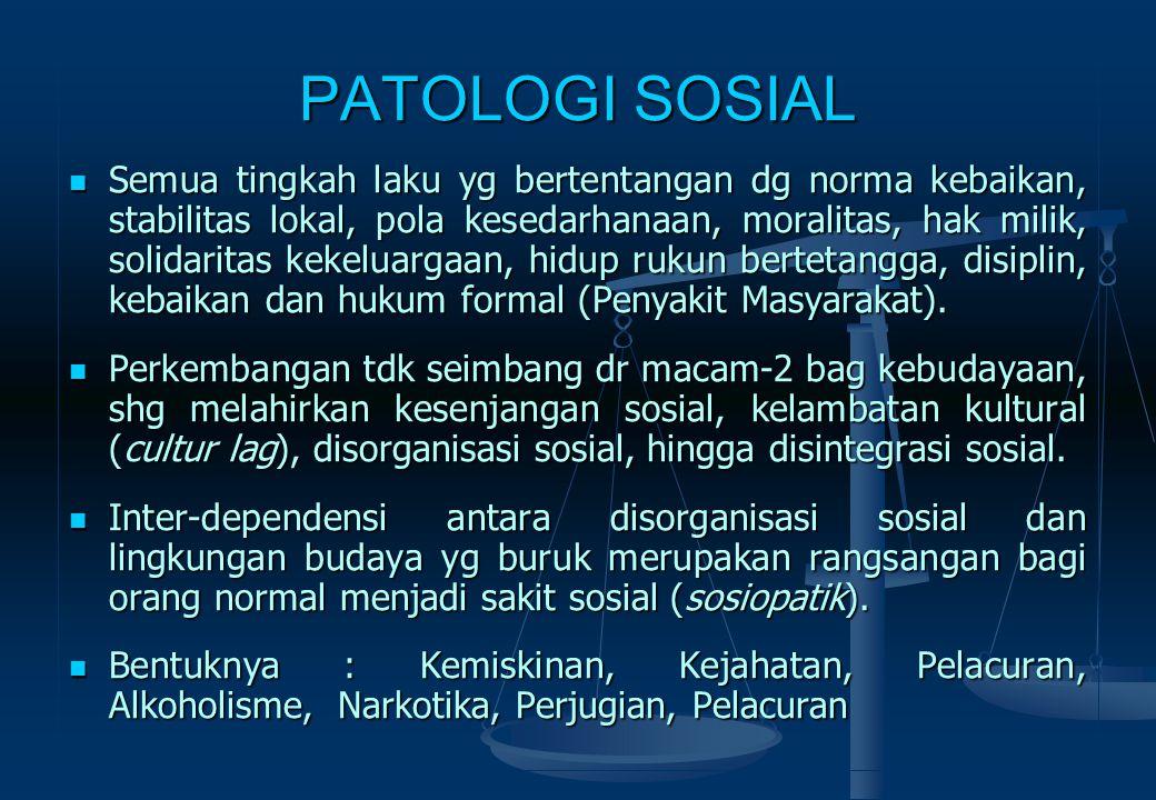 PATOLOGI SOSIAL