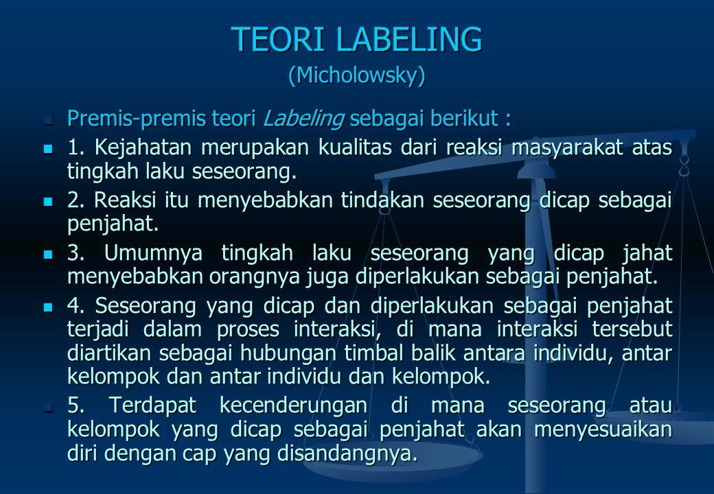 TEORI LABELING (Micholowsky)