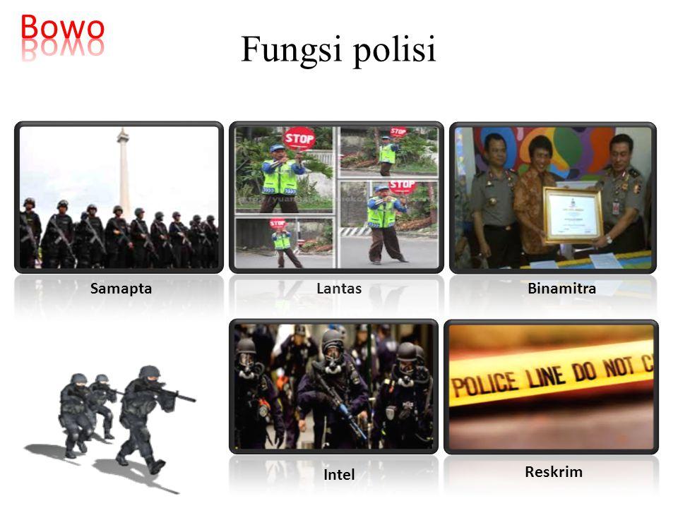 Bowo Fungsi polisi Samapta Lantas Binamitra Intel Reskrim