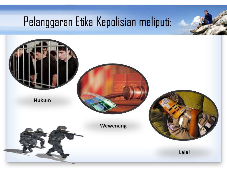 Pelanggaran Etika Kepolisian meliputi: