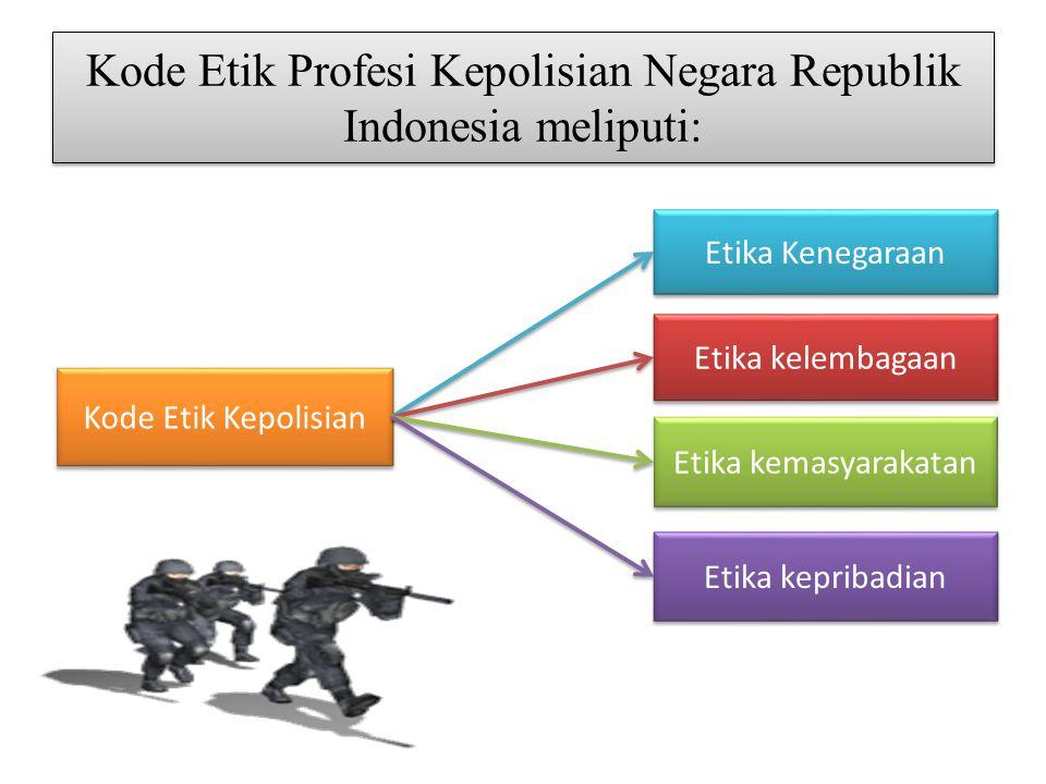 Kode Etik Profesi Kepolisian Negara Republik Indonesia meliputi: