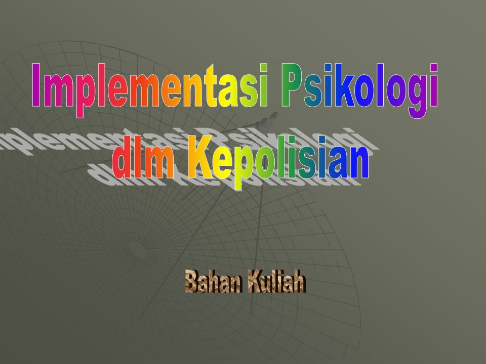 Implementasi Psikologi