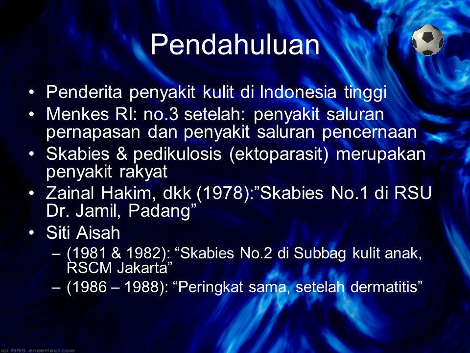 Pendahuluan Penderita penyakit kulit di Indonesia tinggi