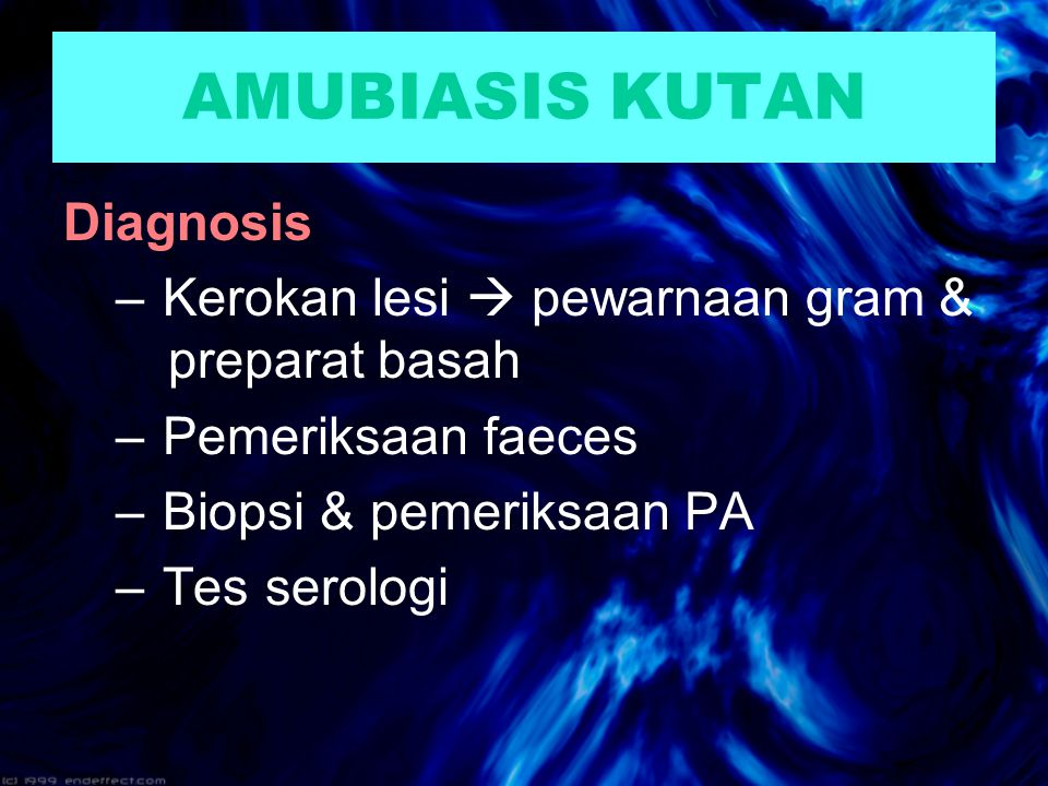 AMUBIASIS KUTAN Diagnosis