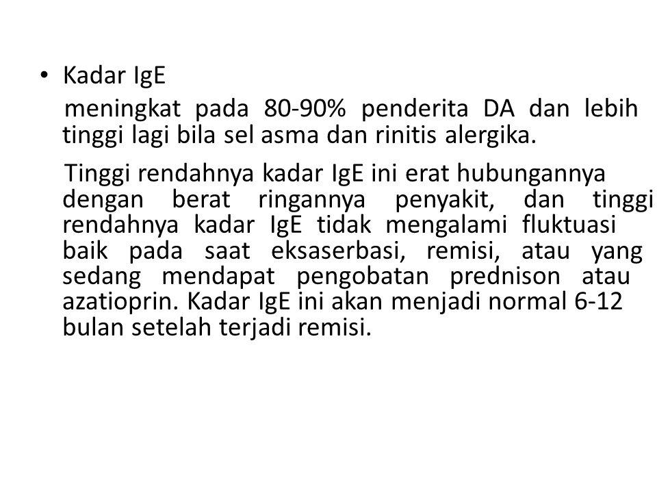 meningkat pada 80-90% penderita DA dan lebih