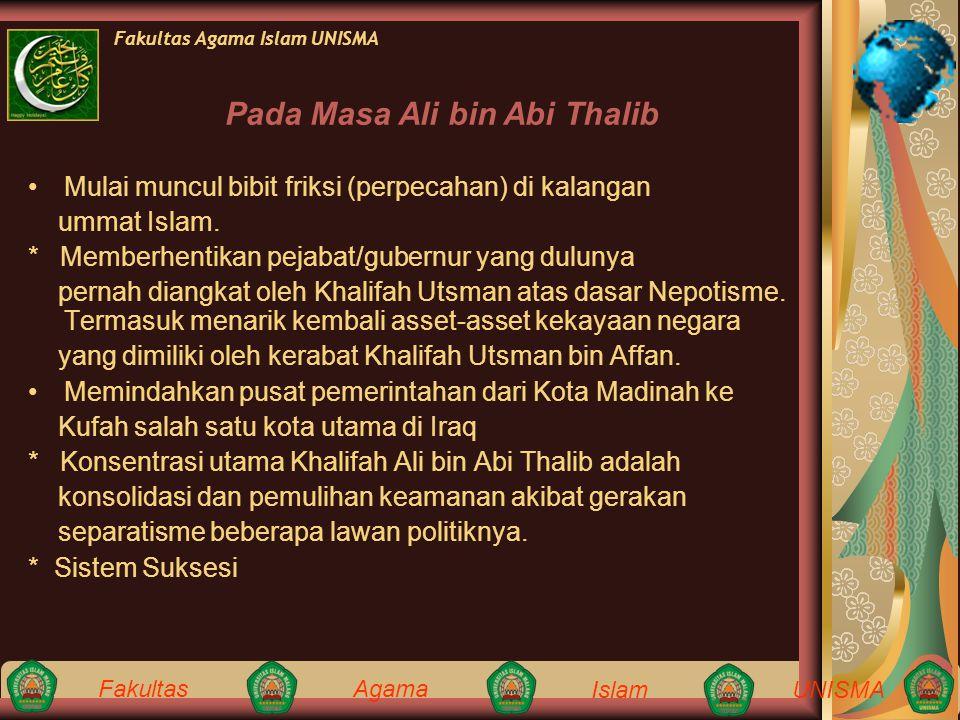 Pada Masa Ali bin Abi Thalib