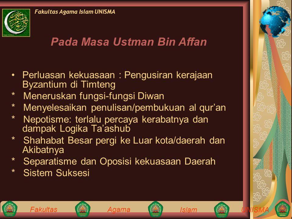 Pada Masa Ustman Bin Affan