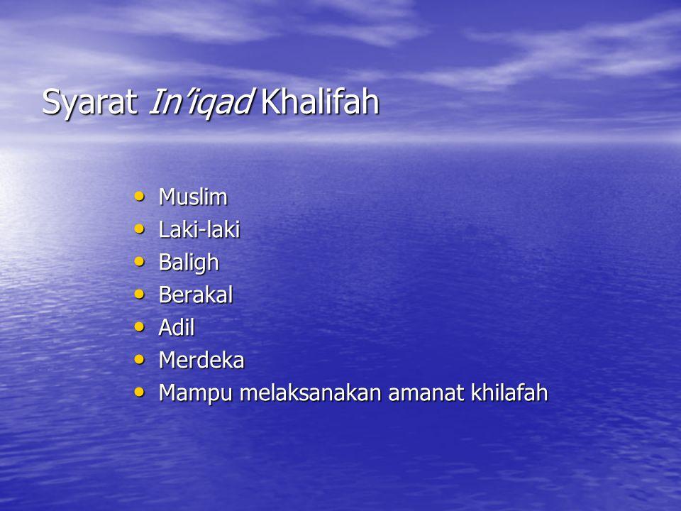 Syarat In'iqad Khalifah