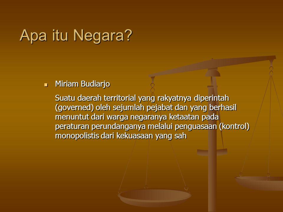 Apa itu Negara Miriam Budiarjo