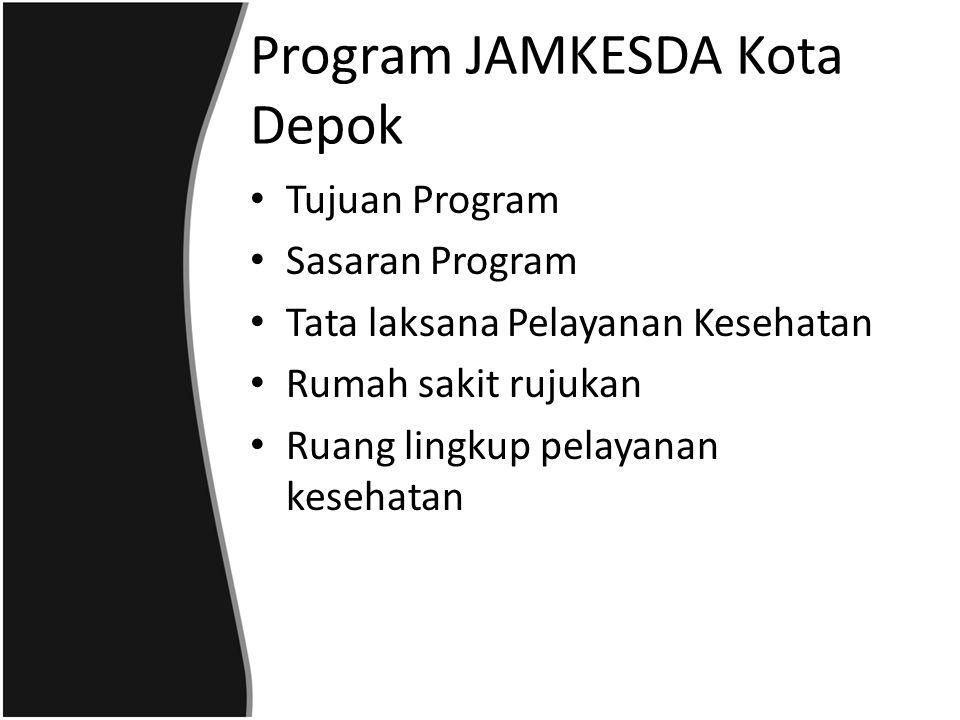 Program JAMKESDA Kota Depok