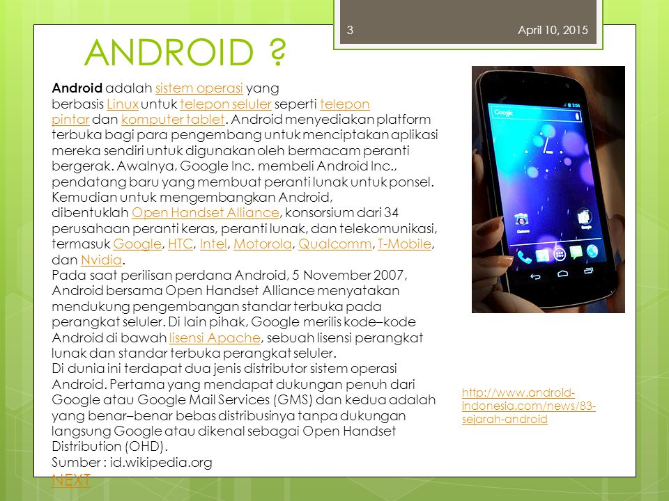 3 April 10, 2017. ANDROID