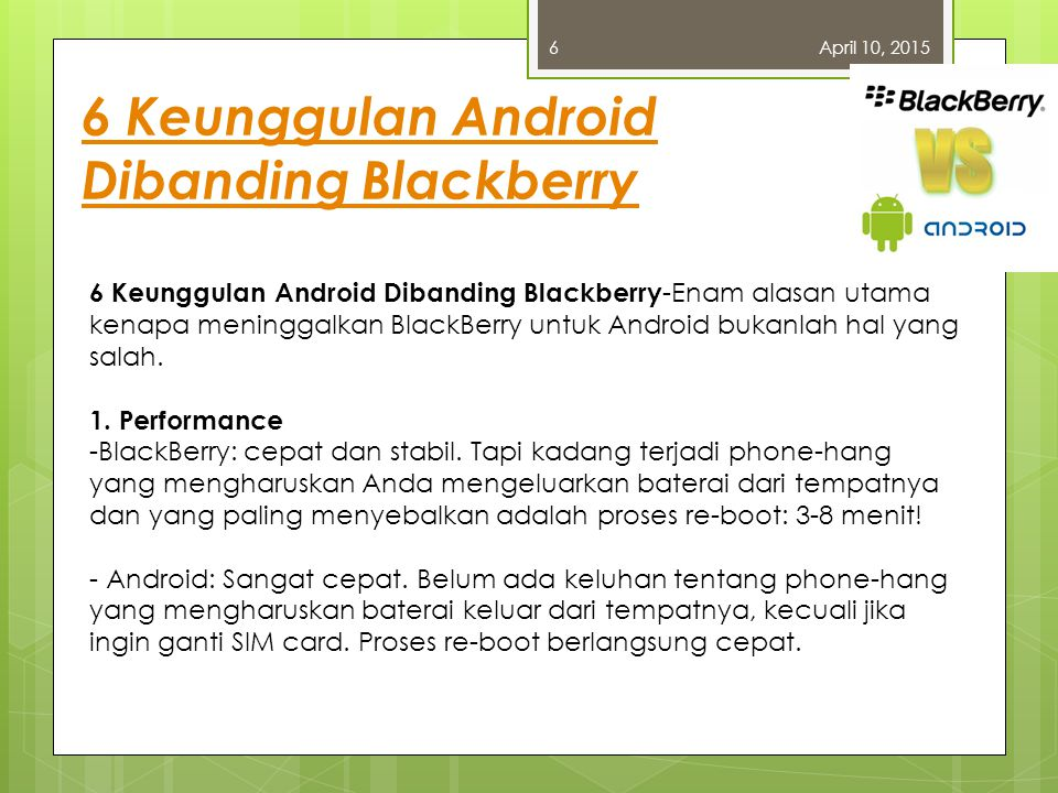 6 Keunggulan Android Dibanding Blackberry