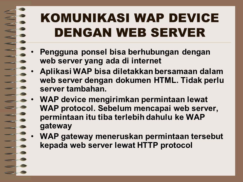 KOMUNIKASI WAP DEVICE DENGAN WEB SERVER