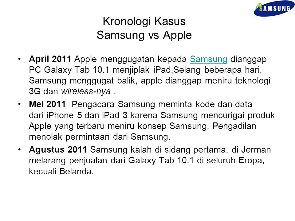 Kronologi Kasus Samsung vs Apple