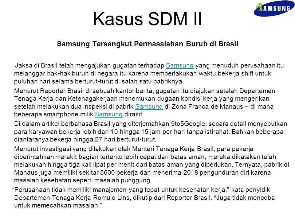 Samsung Tersangkut Permasalahan Buruh di Brasil