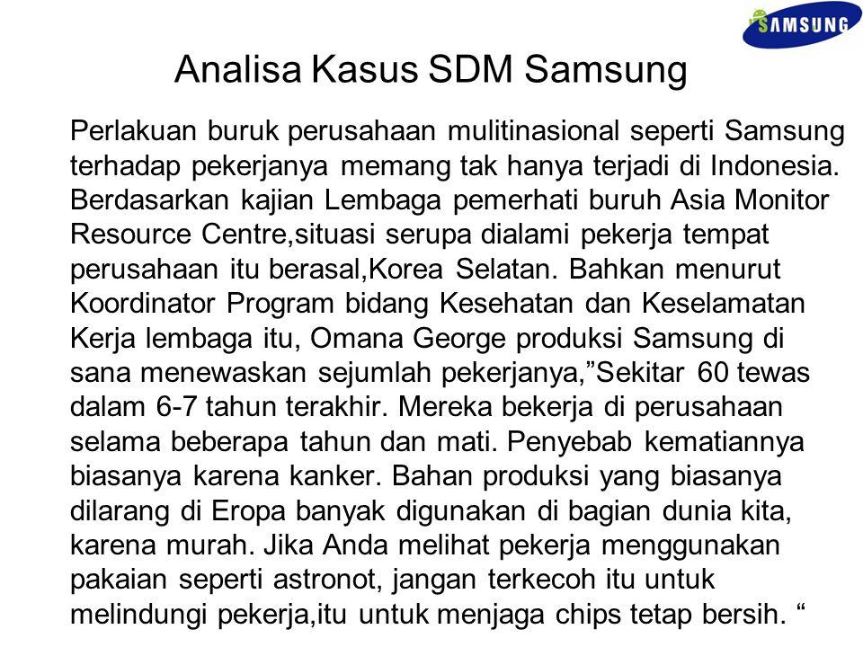 Analisa Kasus SDM Samsung