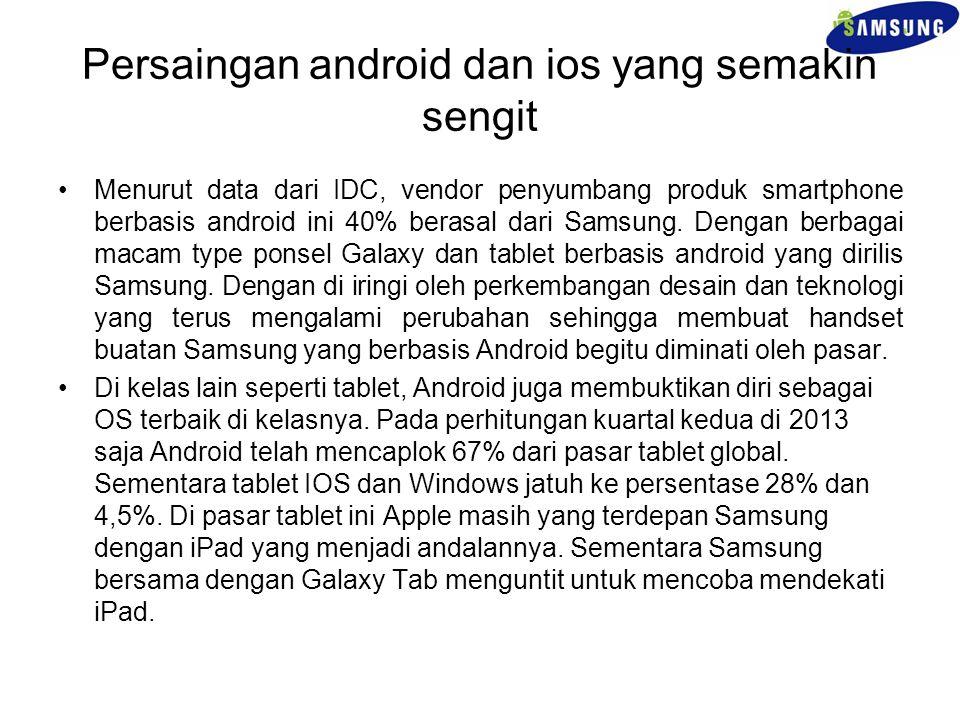 Persaingan android dan ios yang semakin sengit