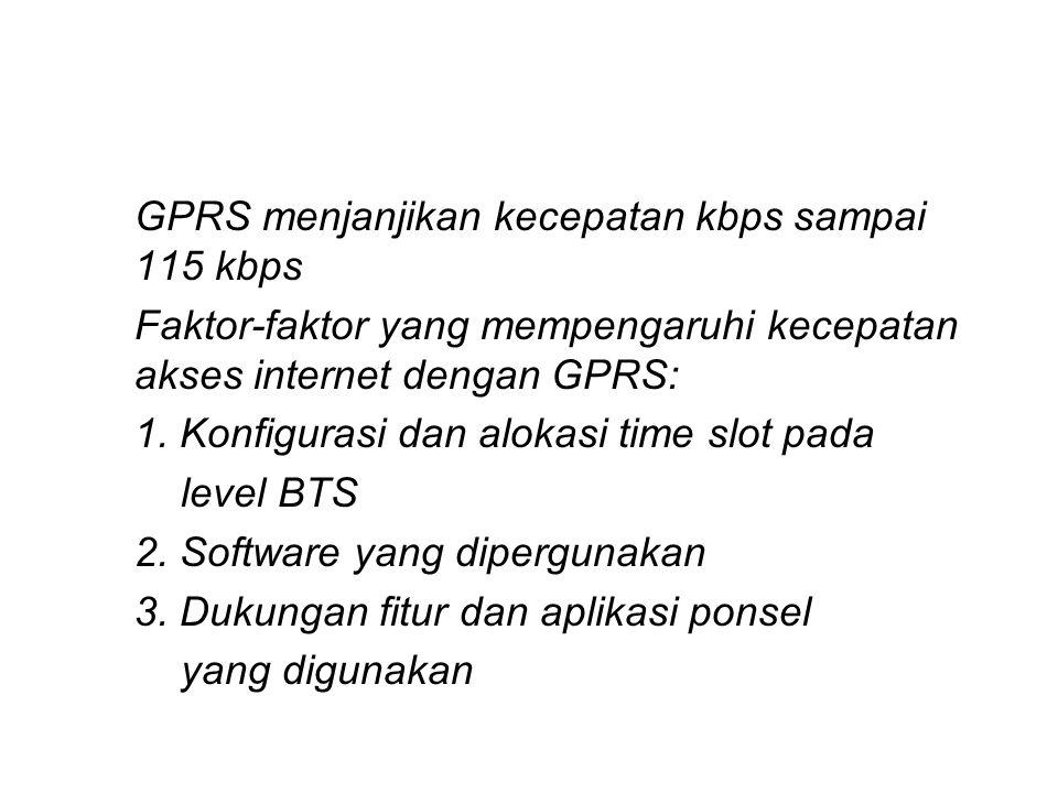 GPRS menjanjikan kecepatan kbps sampai 115 kbps