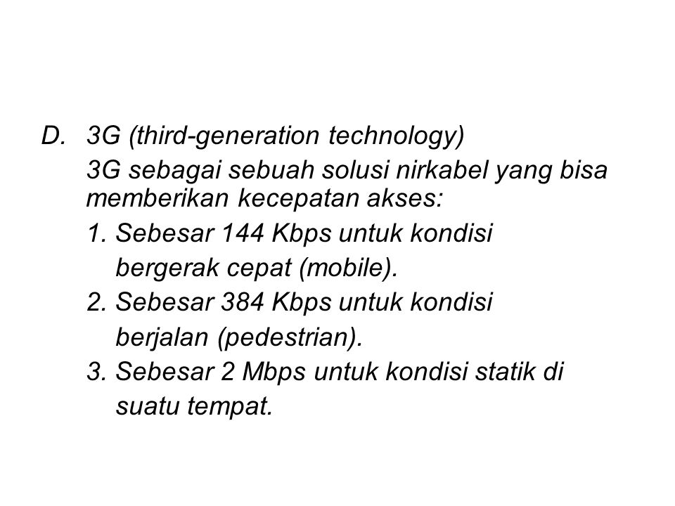 3G (third-generation technology)