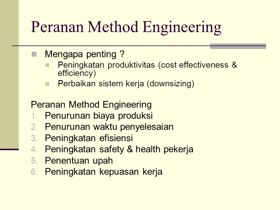 Peranan Method Engineering