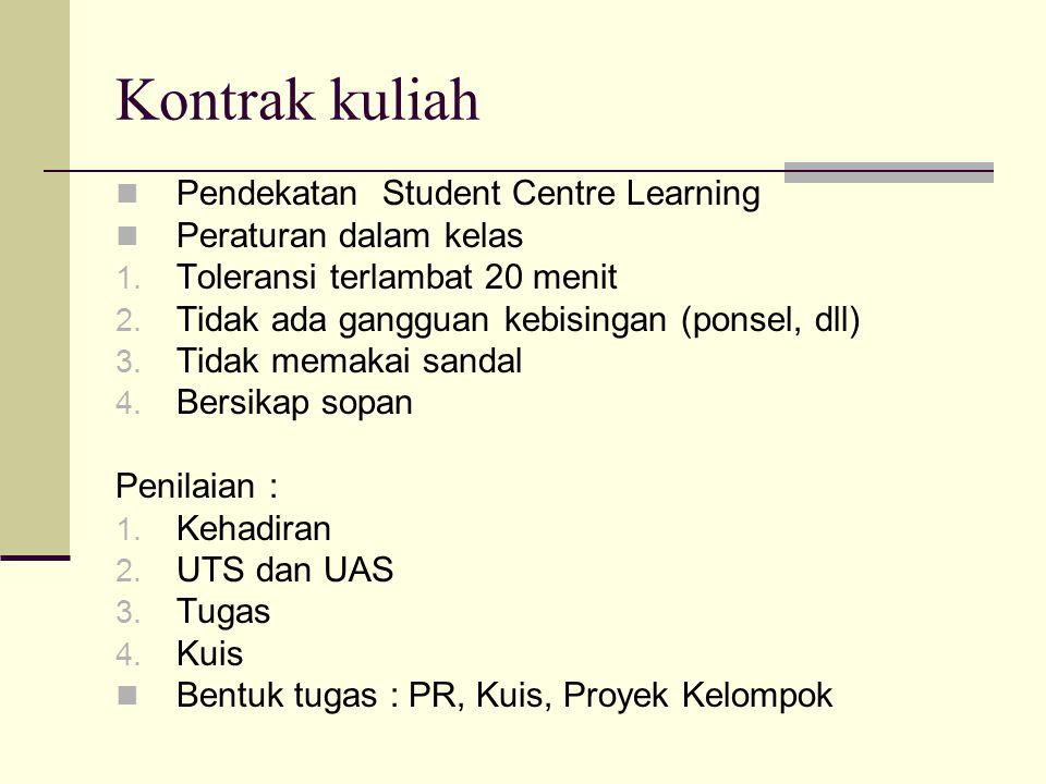 Kontrak kuliah Pendekatan Student Centre Learning