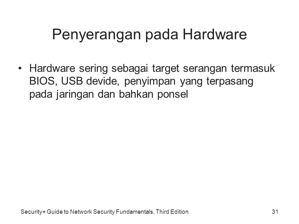 Penyerangan pada Hardware