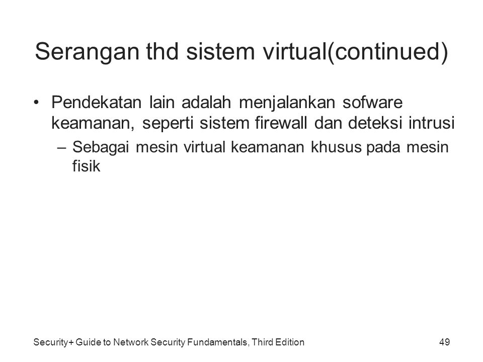 Serangan thd sistem virtual(continued)