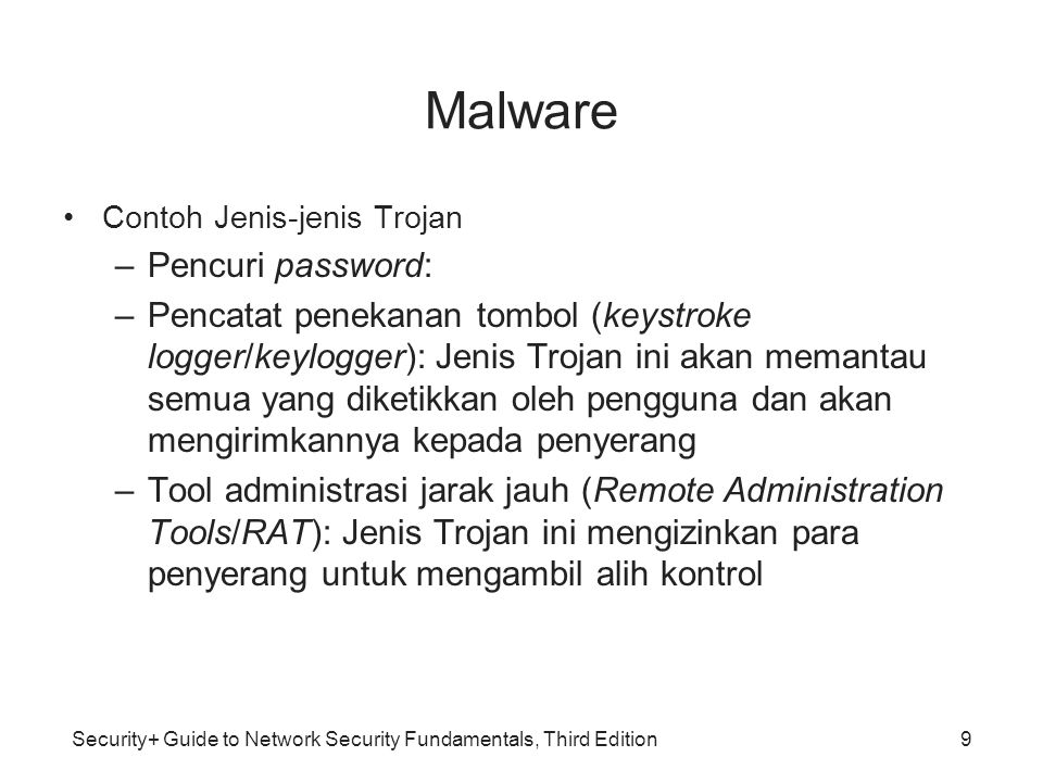 Malware Pencuri password: