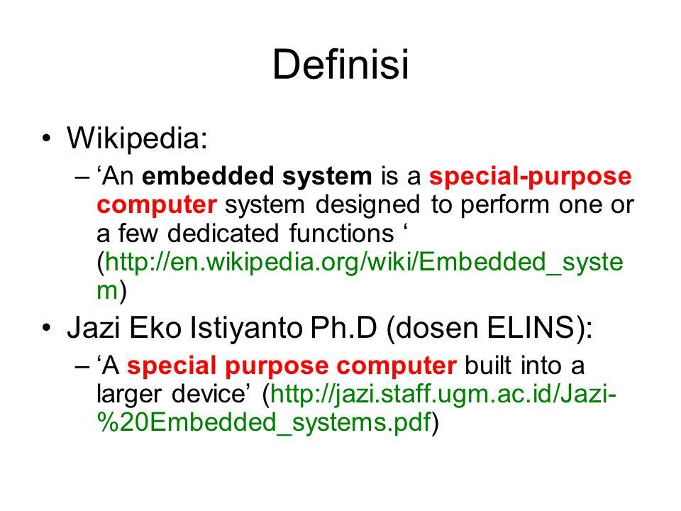 Definisi Wikipedia: Jazi Eko Istiyanto Ph.D (dosen ELINS):