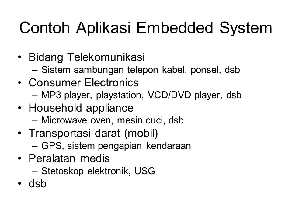 Contoh Aplikasi Embedded System