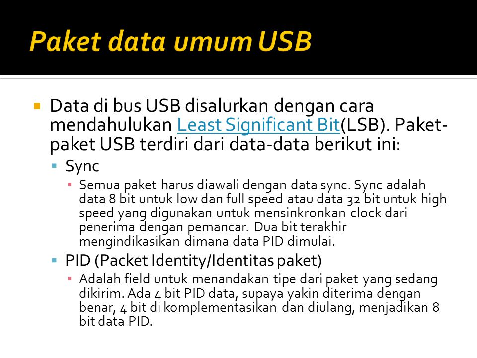 Paket data umum USB