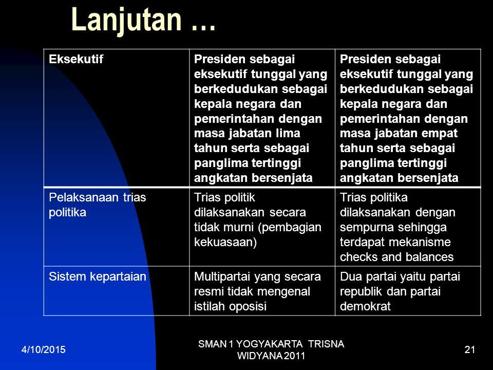 SMAN 1 YOGYAKARTA TRISNA WIDYANA 2011