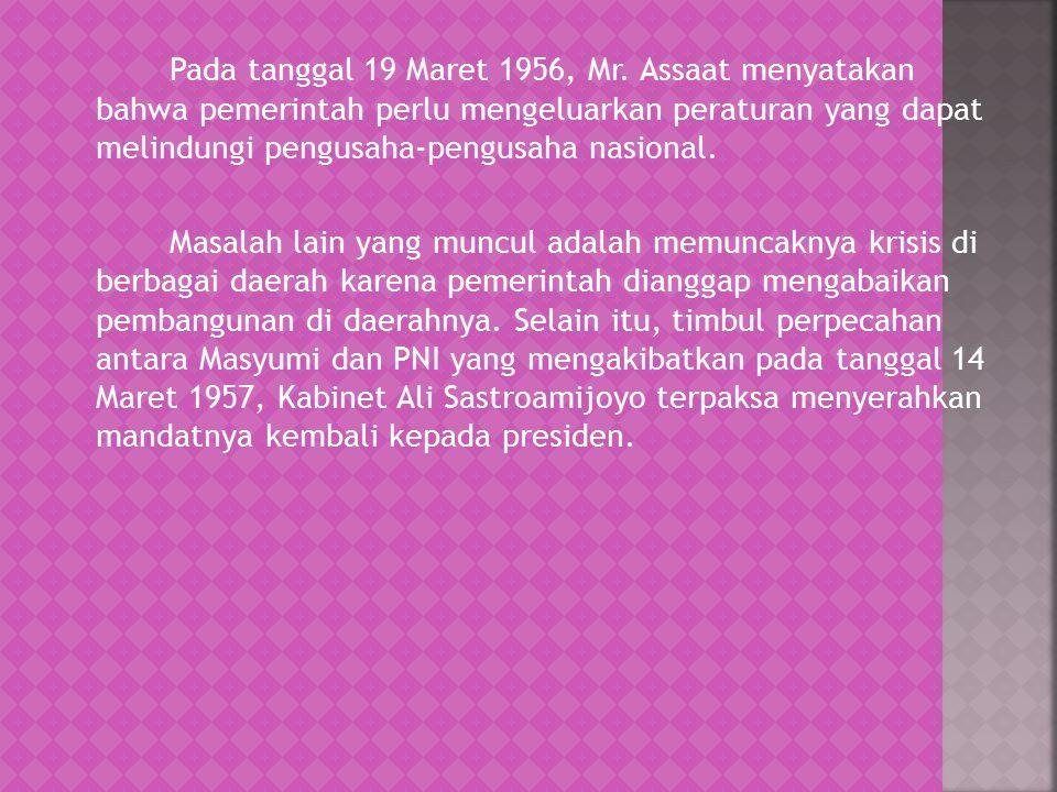 Pada tanggal 19 Maret 1956, Mr.