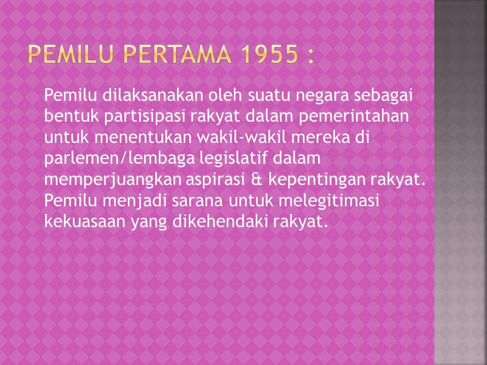 Pemilu pertama 1955 :