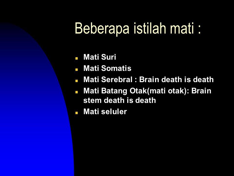 Beberapa istilah mati :