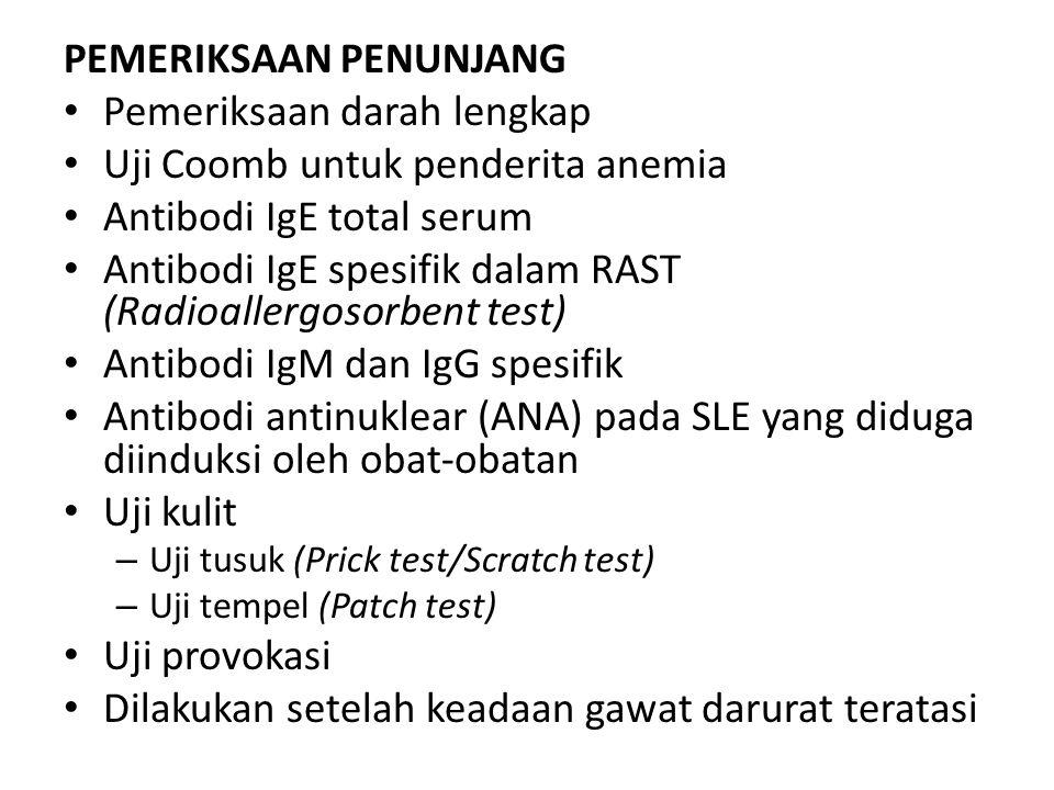 PEMERIKSAAN PENUNJANG Pemeriksaan darah lengkap