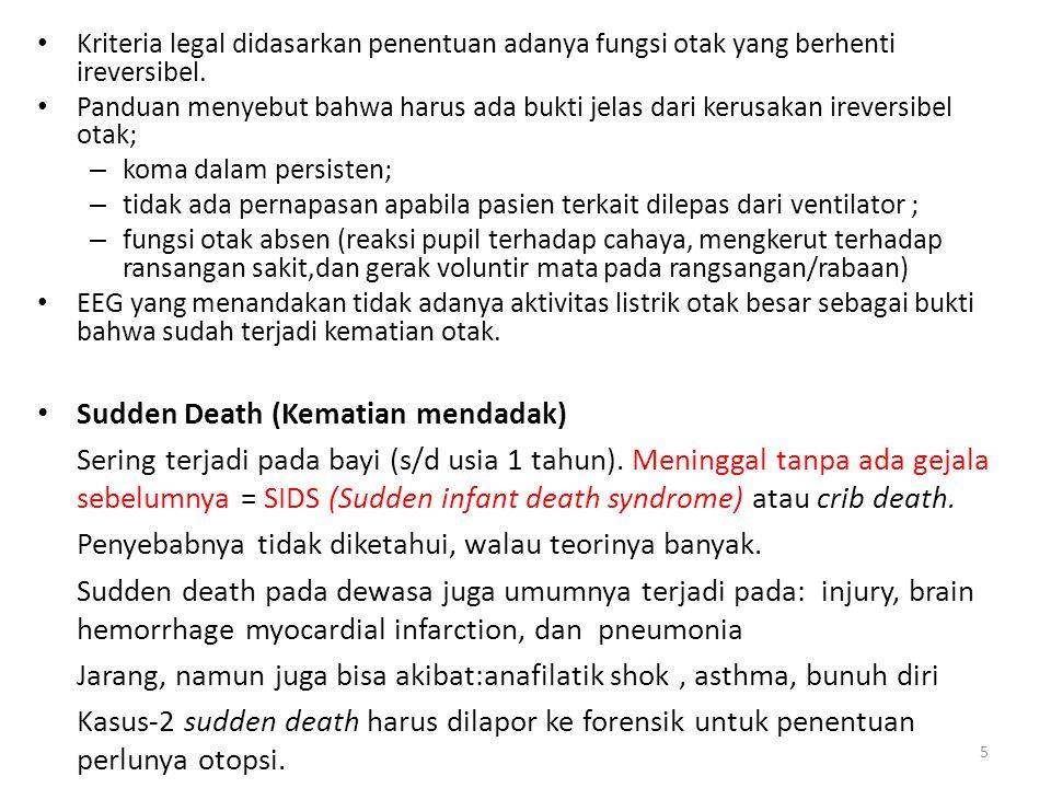 Sudden Death (Kematian mendadak)
