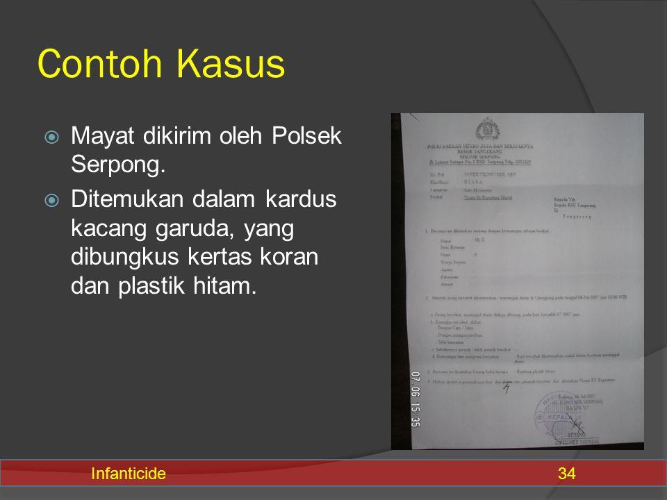Contoh Kasus Mayat dikirim oleh Polsek Serpong.